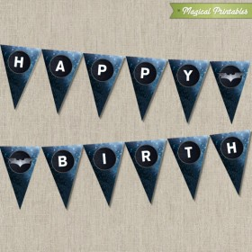 Batman The Dark Knight Printable Happy Birthday Banner