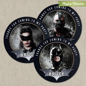 Batman The Dark Knight Printable Birthday Favor Tag Labels