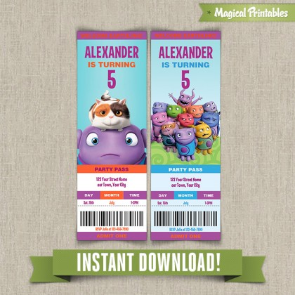 Home Birthday Ticket Invitations - Instant Download!