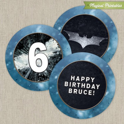 Batman The Dark Knight Printable Birthday 2 in. Labels