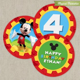 Disney Mickey Mouse Clubhouse Printable Birthday 2 in. Labels