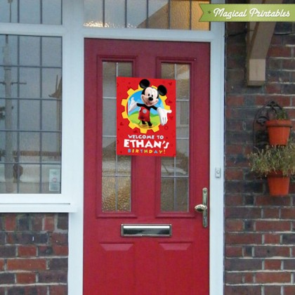 Disney Mickey Mouse Clubhouse Printable Birthday Welcome Sign