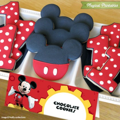 Disney Mickey Mouse Clubhouse Editable Birthday Tent Cards