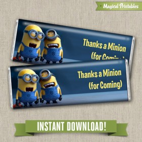 Despicable Me Editable Regular 1.55 oz. Hershey's Wrappers - Instant Download!