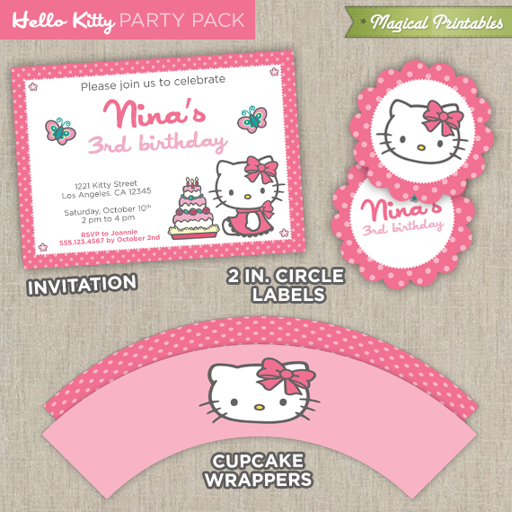 Hello kitty printable party package maxwellsz