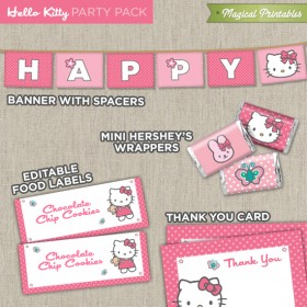 Hello Kitty Printable Party Package