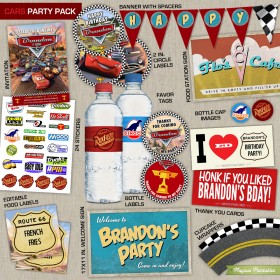 Disney Cars Printable Party Package