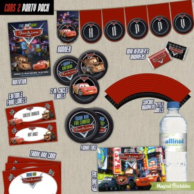 Disney Cars 2 Printable Party Package