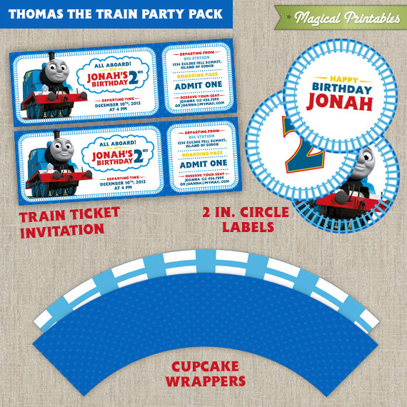 The Train Printable Party Package – Thomas the Train Party Invitations