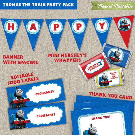 Thomas The Train Printable Party Package