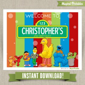 Sesame Street Printable Welcome Sign