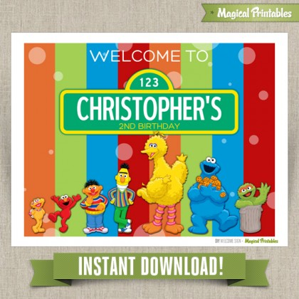 Sesame Street Printable Welcome Sign