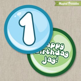 Bubble Guppies Printable Birthday Circle Labels