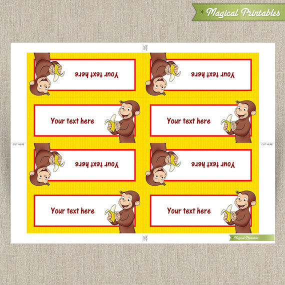 Curious George Editable Birthday Tent Cards  sc 1 st  Magical Printables & George Editable Birthday Tent Cards