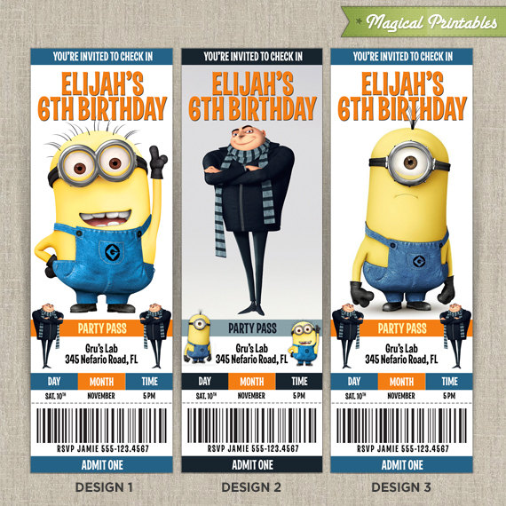 Despicable Me Birthday Invitations correctly perfect ideas for your invitation layout