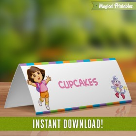 Dora the Explorer Editable Birthday Tent Cards - Instant Download!