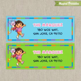 Dora The Explorer Printable Birthday Address Labels