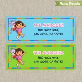 Dora The Explorer Printable Birthday Address Labels