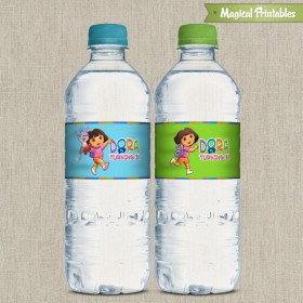Dora The Explorer Printable Birthday Bottle Labels