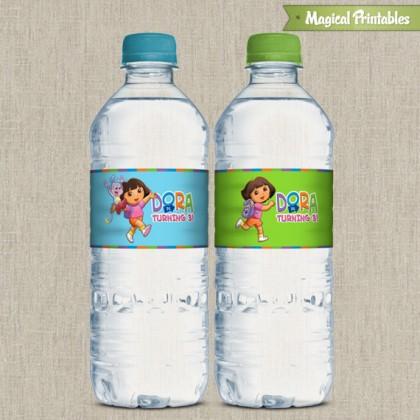 Dora The Explorer Printable Birthday Bottle Labels