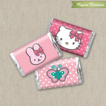Hello Kitty Printable Birthday Mini Hershey's Wrappers