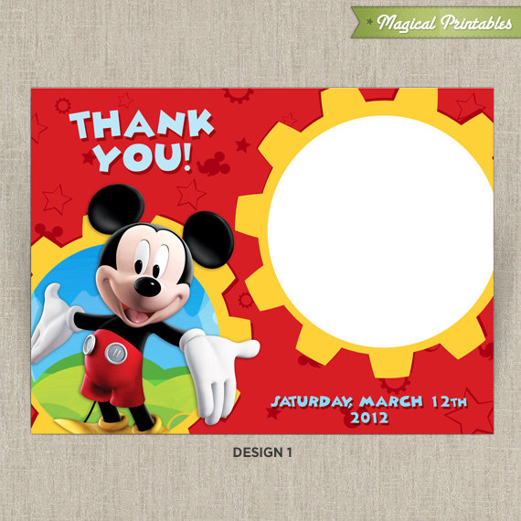 Mickey mouse clubhouse printable birthday thank you cards choose disney mickey mouse clubhouse printable birthday thank you cards choose from 2 designs bookmarktalkfo Image collections