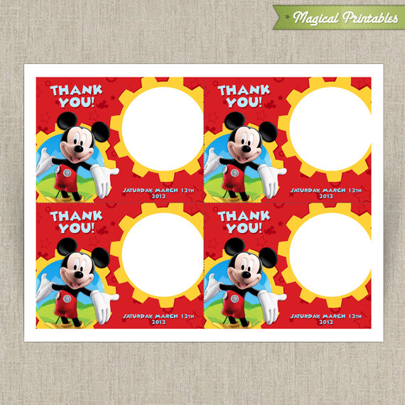 Mickey Mouse Clubhouse Printable Birthday Thank You Cards Choose – Printable Birthday Thank You Cards