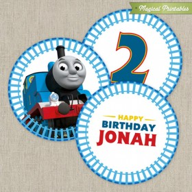 Thomas The Train Printable Birthday 2 in. Labels