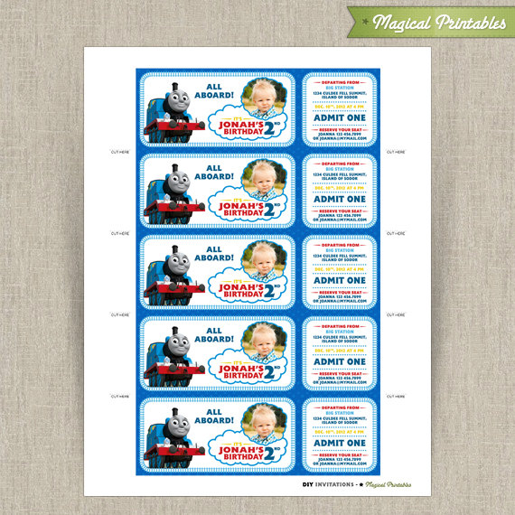 The train customizable printable party invitation with photo thomas the train customizable printable party invitation with photo filmwisefo