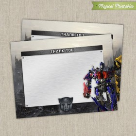 Transformers Blank Birthday Thank you Cards