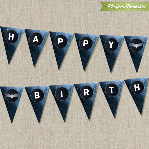 picture about Printable Happy Birthday Banner identify Batman The Darkish Knight Printable Pleased Birthday Banner