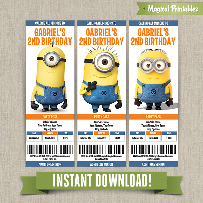 Printable Despicable Me Invitations with amazing invitations design