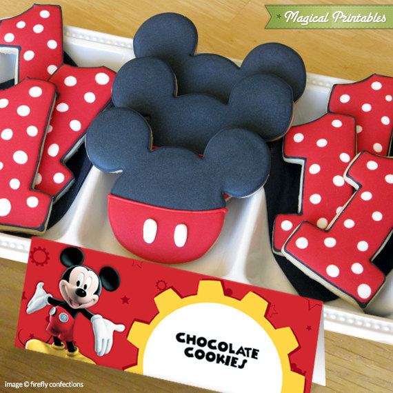 & Disney Mickey Mouse Clubhouse Editable Birthday Tent Cards
