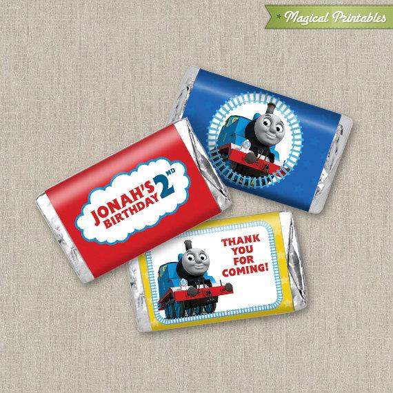 Thomas The Train Printable Birthday Mini Hershey's Wrappers