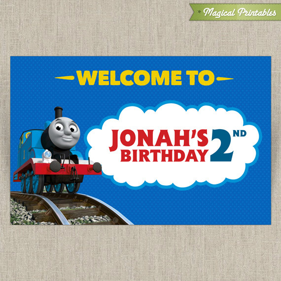 thomas the train printable birthday welcome sign